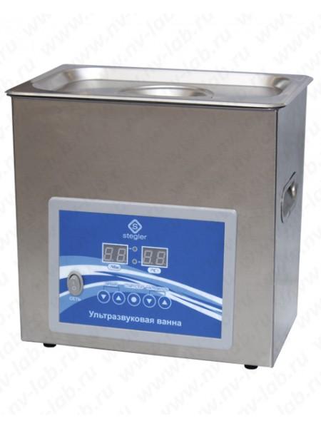 Ультразвуковая ванна (мойка) STEGLER 3DT (3л.,20-80°C,120W)