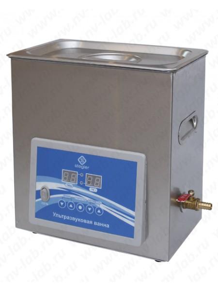Ультразвуковая ванна (мойка) STEGLER 6DT (6л.,20-80°C, 180W)
