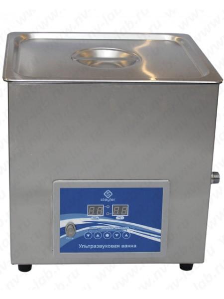 Ультразвуковая ванна (мойка) STEGLER 10DT (10л.,20-80°C, 240W)