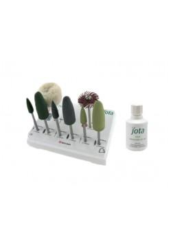 Полиры для полировки протезов Kit Denture Polish набор 8 инструментов