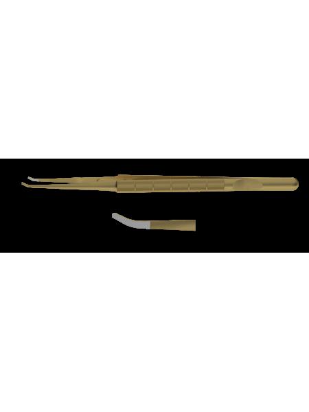 F-0879.01 Пинцет шовный изогнутый