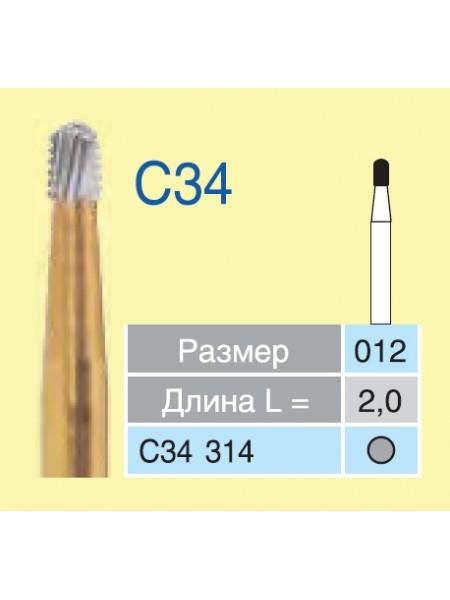 Боры ТВС для разрезания коронок C34