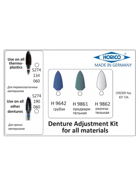 Denture Adjustment Kit (Kit DA)