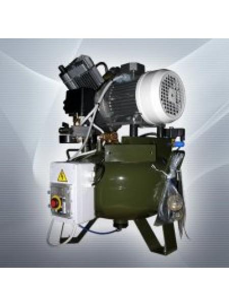 Компрессор для 2-х установок, 2 цилиндра, с осушителем.