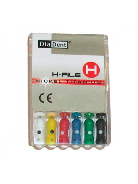 H-FILE инструмент эндодонтический 21мм размер 08 (Никель-Титан) (с цветной кодировкой) (6 шт. в упак.) DD