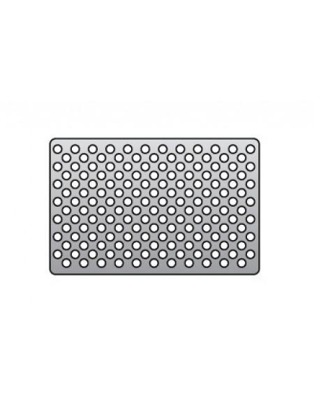 12-ME-003-02 Титановая мембрана (сетка) для направленной регенерации кости 100*74*0,2 мм Ø отверстия 1,5 мм, толщина 0,1 мм, толщина 0,2 мм