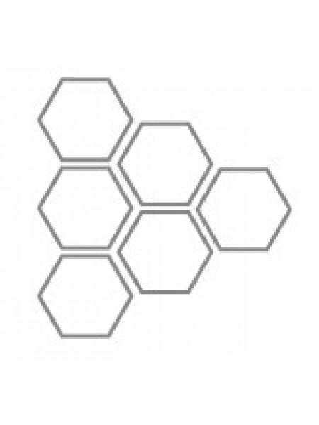 MM-01-07 Титановая мембрана (сетка) шестигранная ячейка 60х30 мм O отверстия 0,42мм толщина 0,1 мм