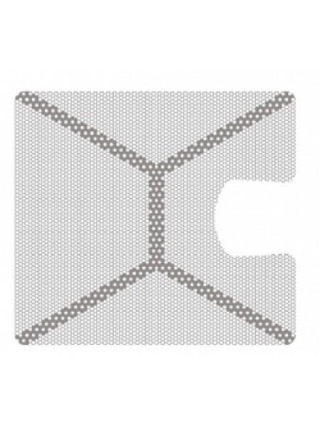 HM-01-01 Титановая мембрана (сетка) шестигранная ячейка с усиленным каркасом 33х30, толщина 0,1мм, Ø отверстия 0,36