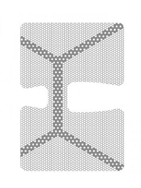 HM-01-03 Титановая мембрана (сетка) шестигранная ячейка с усиленным каркасом 21х30, толщина 0,1мм, Ø отверстия 0,36