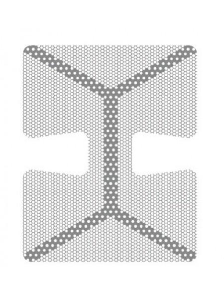 HM-01-04 Титановая мембрана (сетка) шестигранная ячейка с усиленным каркасом 24х30, толщина 0,1мм, Ø отверстия 0,36