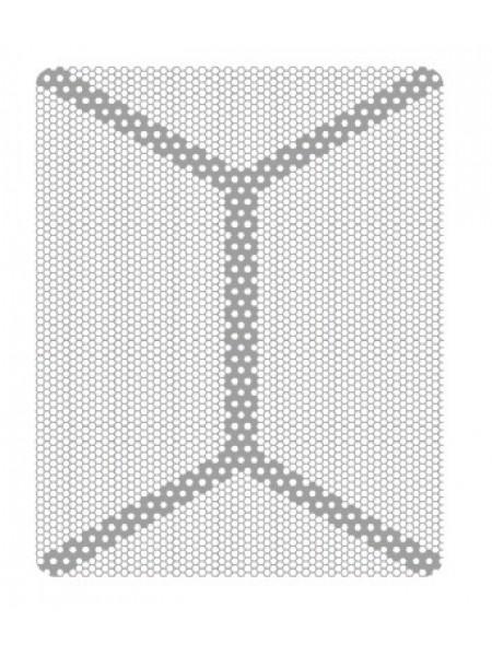 HM-01-05 Титановая мембрана (сетка) шестигранная ячейка с усиленным каркасом 24х30, толщина 0,1мм, Ø отверстия 0,36