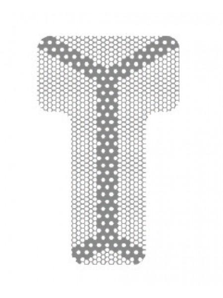 HM-01-06 Титановая мембрана (сетка) шестигранная ячейка с усиленным каркасом 13х21, толщина 0,1мм, Ø отверстия 0,36