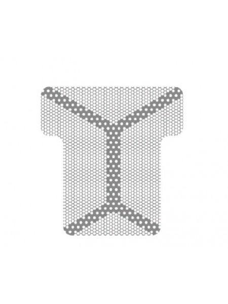 HM-01-08 Титановая мембрана (сетка) шестигранная ячейка с усиленным каркасом 20х21, толщина 0,1мм, Ø отверстия 0,36