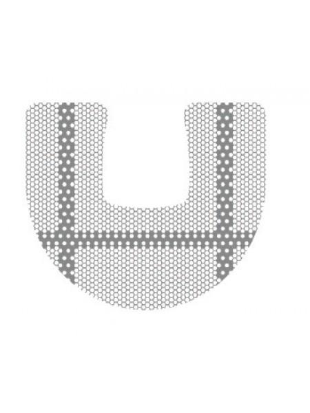 HM-01-09 Титановая мембрана (сетка) шестигранная ячейка с усиленным каркасом 23х30, толщина 0,1мм, Ø отверстия 0,36