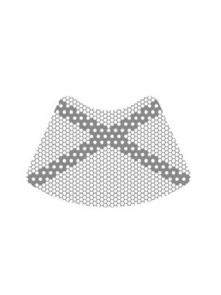 HM-01-10 Титановая мембрана (сетка) шестигранная ячейка с усиленным каркасом 18.5х12.5, толщина 0,1мм, Ø отверстия 0,36