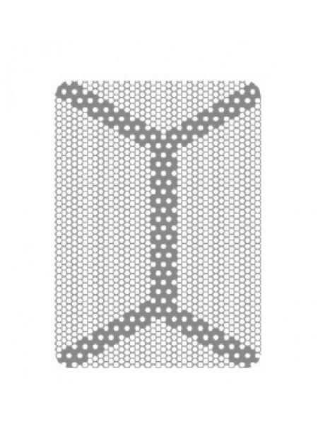 HM-01-11 Титановая мембрана (сетка) шестигранная ячейка с усиленным каркасом 15х21, толщина 0,1мм, Ø отверстия 0,36