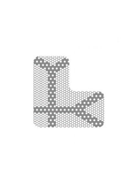 HM-01-12 Титановая мембрана (сетка) шестигранная ячейка с усиленным каркасом 143х14, толщина 0,1мм, Ø отверстия 0,36