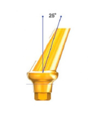 Абатмент D 4.0 угол 25 с шестигранником HEX и HEX-E