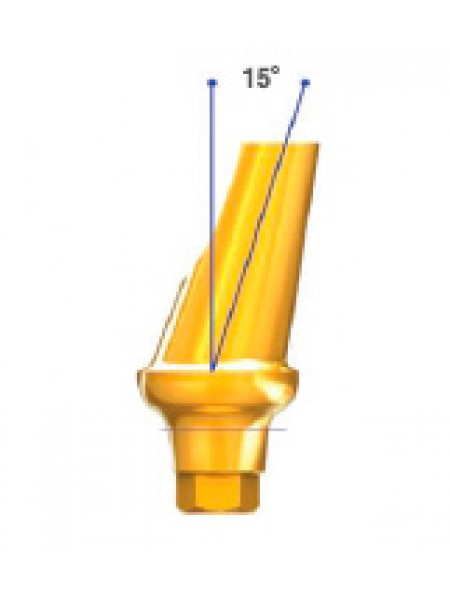 Абатмент D 7.0 угол 15 с шестигранником HEX и HEX-E