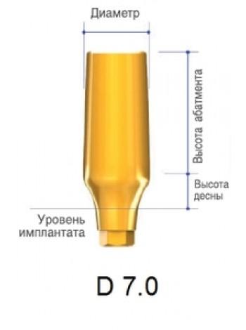Абатмент обтачиваемый d 7.0, h 9.0