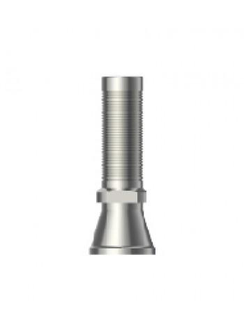 Титановый цилиндр для винтового абтмента мостовидный без шестигранника